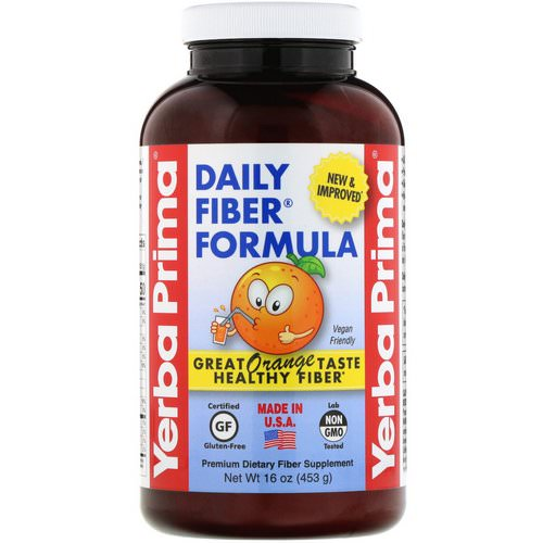 Yerba Prima, Daily Fiber Formula, Orange, 16 oz (453 g) Review
