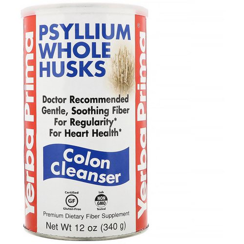 Yerba Prima, Psyllium Whole Husks, Colon Cleanser, 12 oz (340 g) Review