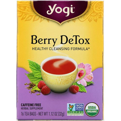 Yogi Tea, Berry DeTox, Caffeine Free, 16 Tea Bags, 1.12 oz (32 g) Review