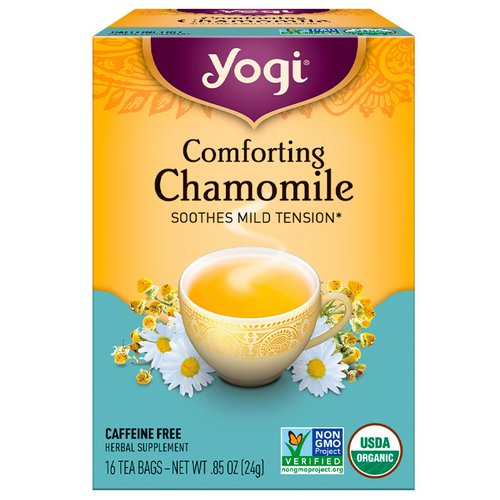 Yogi Tea, Comforting Chamomile, Caffeine Free, 16 Tea Bags, .85 oz (24 g) Review