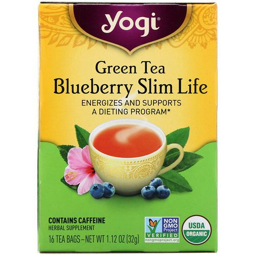 Yogi Tea, Organic, Green Tea Blueberry Slim Life, 16 Tea Bags, 1.12 oz (32 g) Review