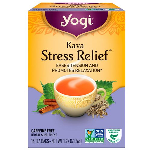Yogi Tea, Kava Stress Relief, Caffeine Free, 16 Tea Bags, 1.27 oz (36 g) Review