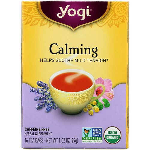 Yogi Tea, Calming, Caffeine Free, 16 Tea Bags, 1.02 oz (29 g) Review