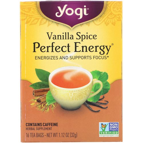 Yogi Tea, Perfect Energy, Vanilla Spice, 16 Tea Bags, 1.12 oz (32 g) Review
