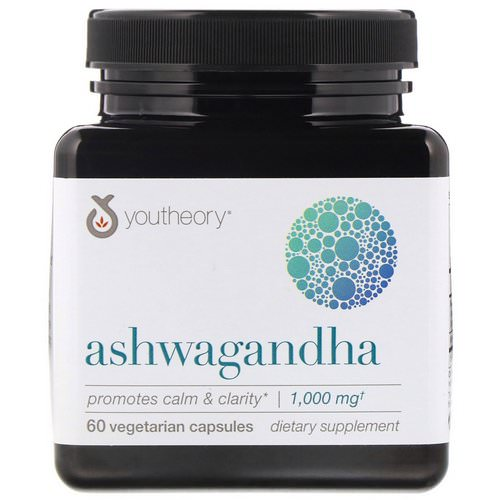 Youtheory, Ashwagandha, 1,000 mg, 60 Vegetarian Capsules Review