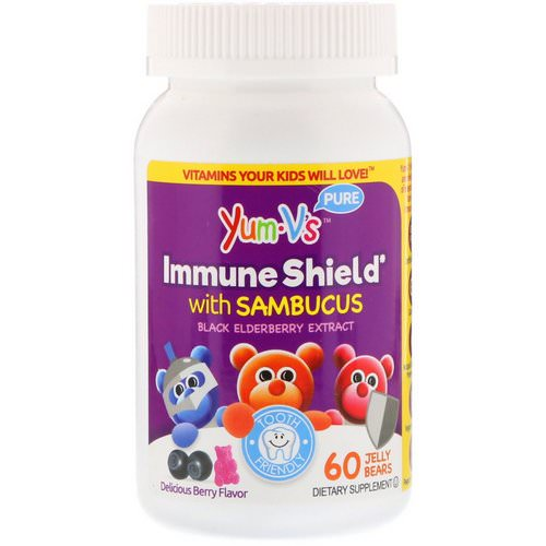 YumV's, Immune Shield With Sambucus, Yummy Berry Flavor, 60 Jelly Bears Review