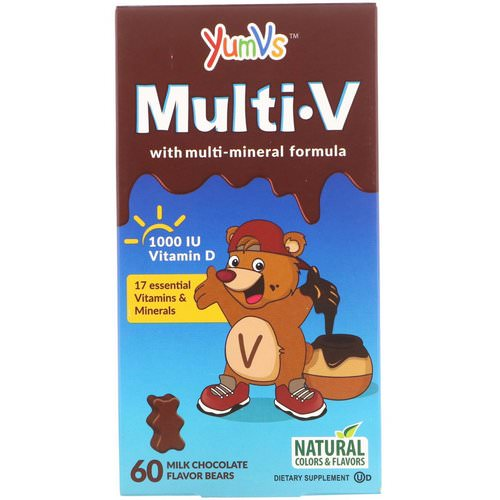 YumV's, Multi V with Multi-Mineral Formula, Milk Chocolate Flavor, 60 Bears Review