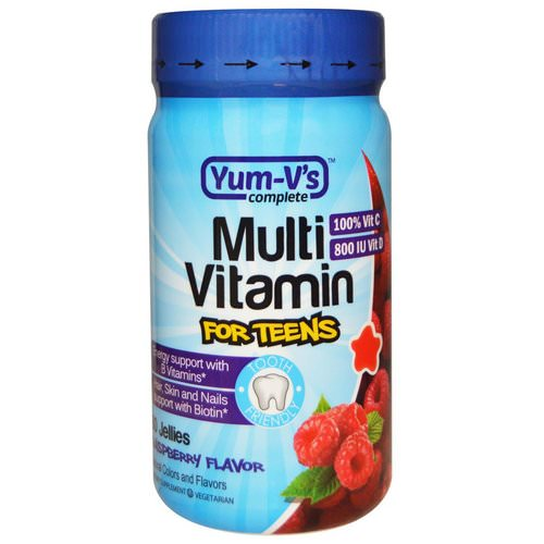 YumV's, Multi Vitamin for Teens, Raspberry Flavor, 60 Jellies Review