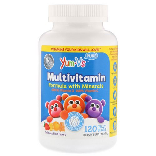 YumV's, Multivitamin Formula With Minerals, Delicious Fruit Flavors, 120 Jelly Bears Review