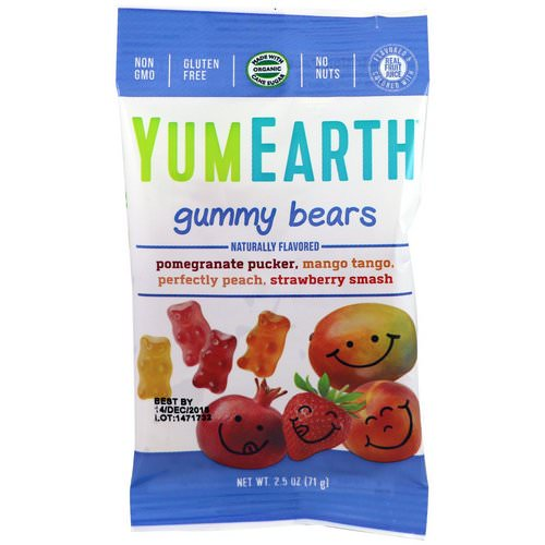 YumEarth, Gummy Bears, Assorted Flavors, 12 Packs, 2.5 oz (71 g) Each Review