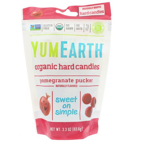 YumEarth, Organic Hard Candies, Pomegranate Pucker, 3.3 oz (93.6 g) Review