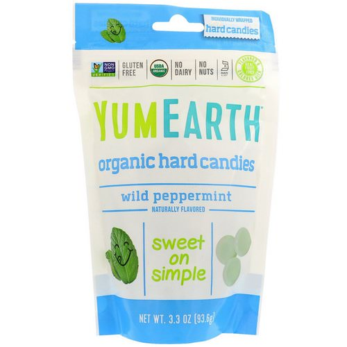 YumEarth, Organic Hard Candies, Wild Peppermint, 3.3 oz (93.6 g) Review