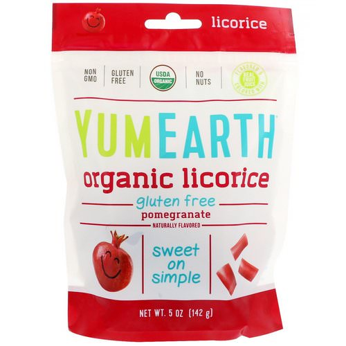 YumEarth, Organic Licorice, Pomegranate, 5 oz (142 g) Review