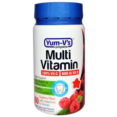 YumV's, Multi Vitamin, for Adults,Raspberry Flavor, 60 Jelly Vitamins Review