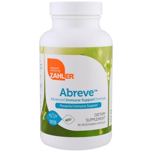 Zahler, Abreve, Advanced Immune System Support Formula, 90 Vegetarian Capsules Review