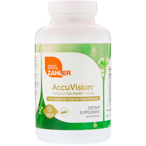 Zahler, AccuVision, Advanced Eye Health Formula, 120 Capsules Review