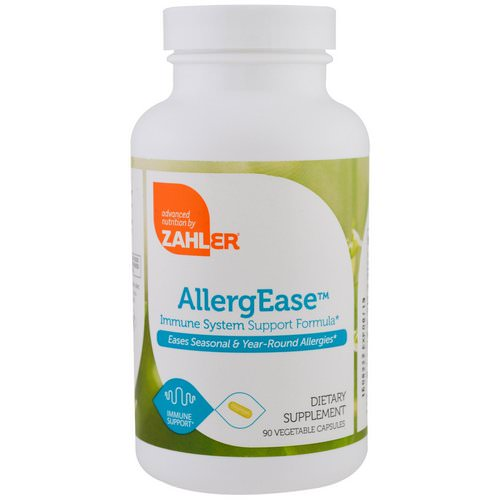 Zahler, AllergEase, Immune System Support Formula, 90 Vegetable Capsules Review