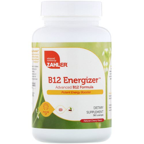 Zahler, B12 Energizer, Advanced B12 Formula, Natural Cherry Flavor, 360 Lozenges Review