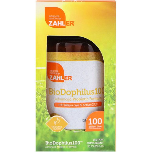 Zahler, BioDophilus100, Advanced Probiotic Formula, 100 Billion CFU, 30 Capsules Review