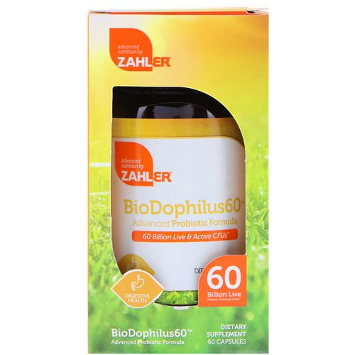 Zahler, BioDophilus60, Advanced Probiotic Formula, 60 Billion CFU, 60 Capsules Review