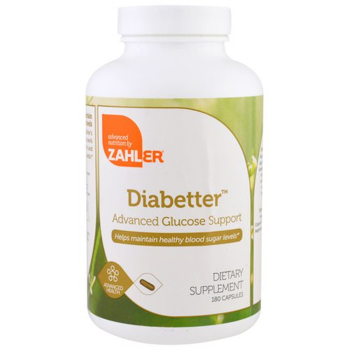 Zahler, Diabetter, Advanced Glucose Support, 180 Capsules Review
