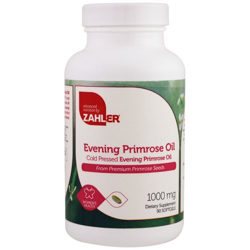 Zahler, Evening Primrose Oil, 1000 mg, 90 Softgels Review