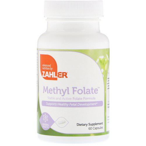 Zahler, Methyl Folate, 60 Capsules Review
