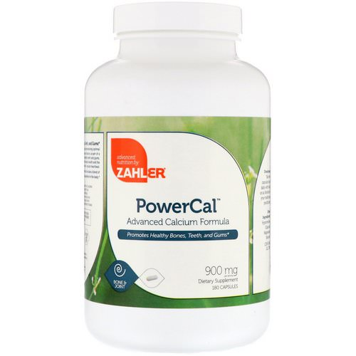 Zahler, PowerCal, Advanced Calcium Formula, 900 mg, 180 Capsules Review