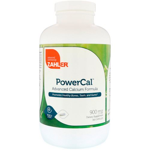 Zahler, PowerCal, Advanced Calcium Formula, 900 mg, 360 Capsules Review
