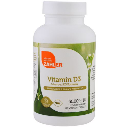Zahler, Vitamin D3, 50,000 IU, 120 Vegetable Capsules Review