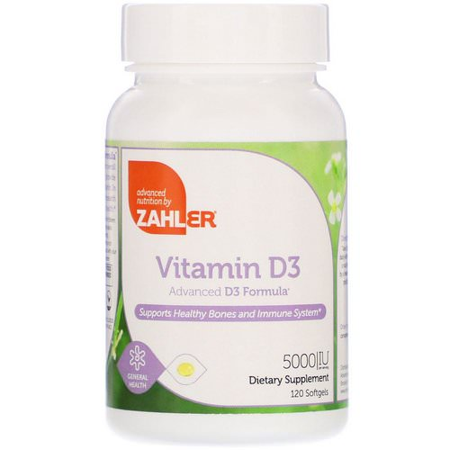 Zahler, Vitamin D3, Advanced D3 Formula, 5,000 IU, 120 Softgels Review