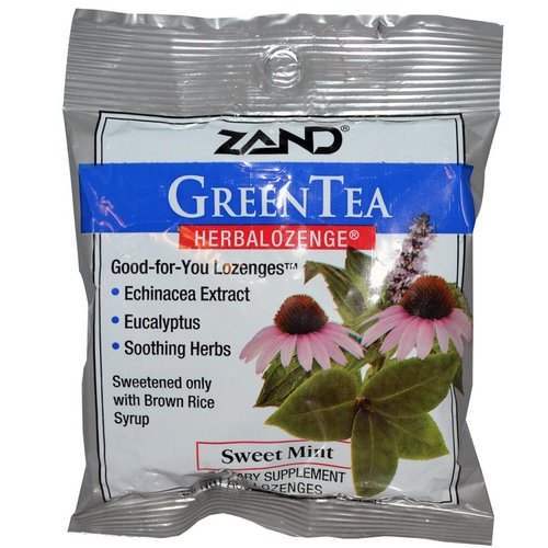 Zand, GreenTea, Herbalozenge, Sweet Mint, 15 Lozenges Review