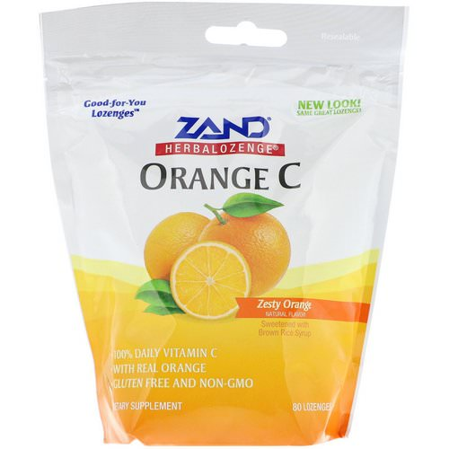 Zand, Herbalozenge, Orange C, Zesty Orange, 80 Lozenges Review