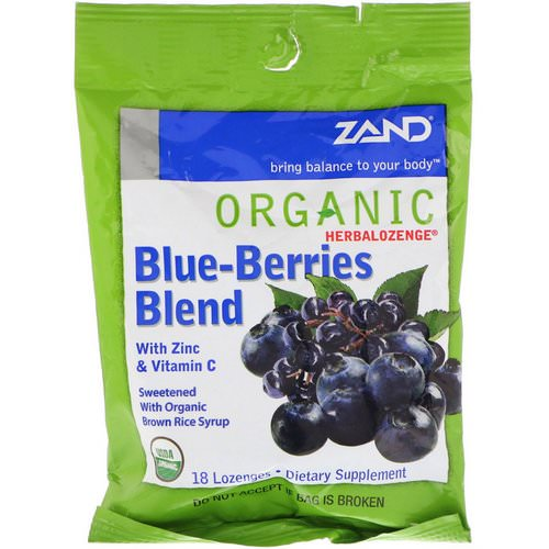 Zand, Organic Herbalozenge, Blue-Berries Blend, 18 Lozenges Review