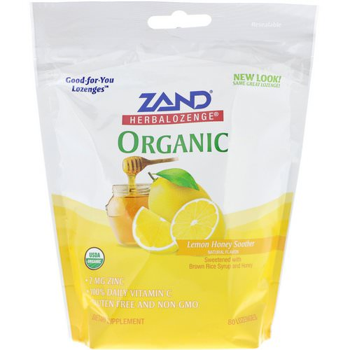 Zand, Organic Herbalozenge, Lemon Honey Soother, 80 Lozenges Review