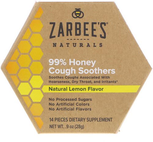 Zarbee's, 99% Honey Cough Soothers, Natural Lemon Flavor, 14 Pieces Review