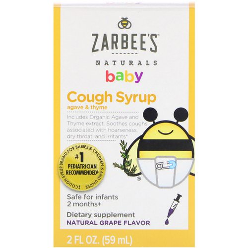Zarbee's, Baby Cough Syrup, Natural Grape Flavor, 2 fl oz (59 ml) Review