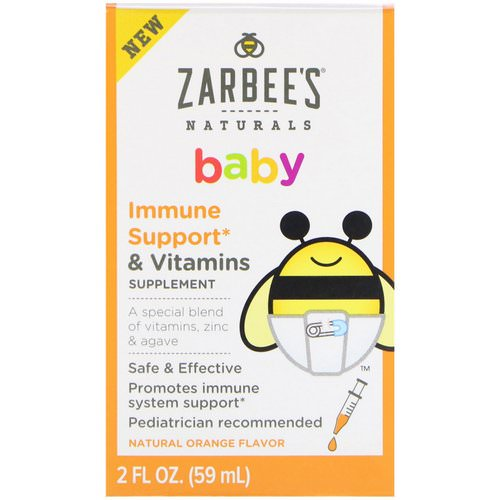 Zarbee's, Baby, Immune Support & Vitamins, Natural Orange Flavor, 2 fl oz (59 ml) Review
