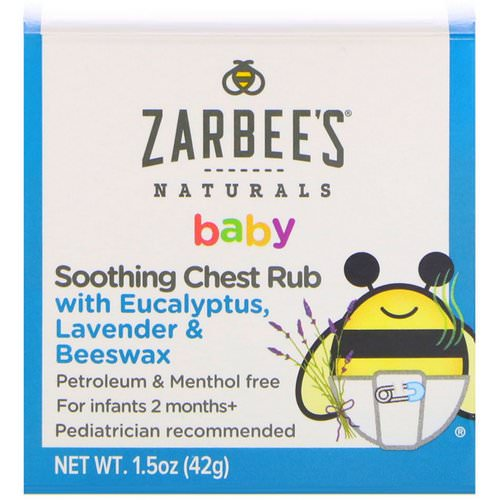 Zarbee's, Baby, Soothing Chest Rub with Eucalyptus, Lavender & Beeswax, 1.5 oz (42 g) Review