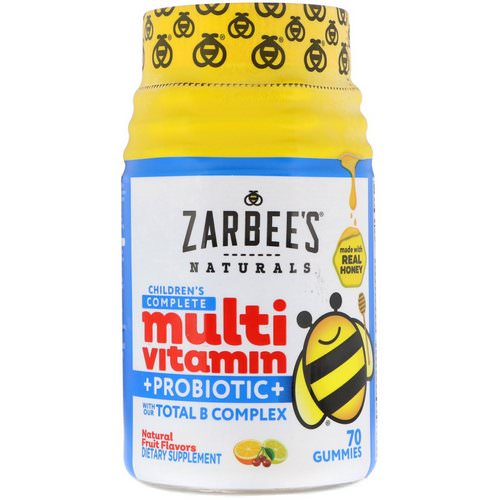 Zarbee's, Children's Complete Multivitamin + Probiotic, Natural Fruit Flavors, 70 Gummies Review