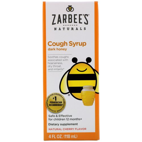 Zarbee's, Children's Cough Syrup with Dark Honey, Natural Cherry Flavor, 4 fl oz (118 ml) Review
