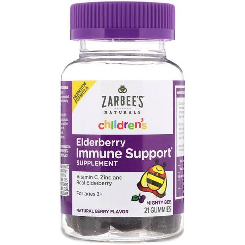 Zarbee's, Children's, Mighty Bee, Elderberry Immune Support, Natural Berry Flavor, 21 Gummies Review