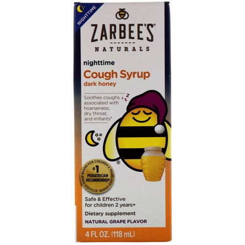 Zarbee's, Children's Nighttime Cough Syrup, Natural Grape Flavor, 4 fl oz (118 ml) Review