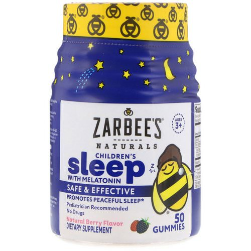 Zarbee's, Children's Sleep with Melatonin, Natural Berry Flavor, 50 Gummies Review