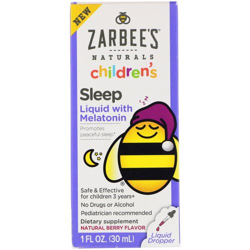 Zarbee's, Childrens Sleep Liquid with Melatonin, Natural Berry, 1 fl oz (30 ml) Review