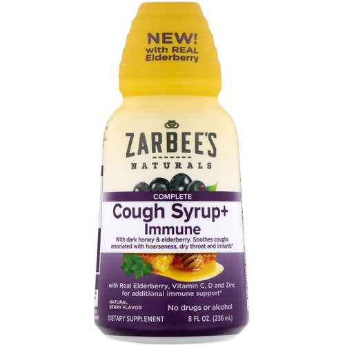 Zarbee's, Complete Cough Syrup + Immune, Natural Berry, 8 fl oz (236 ml) Review