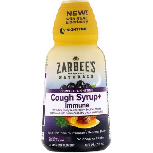 Zarbee's, Complete NightTime, Cough Syrup + Immune, Natural Berry, 8 fl oz (236 ml) Review