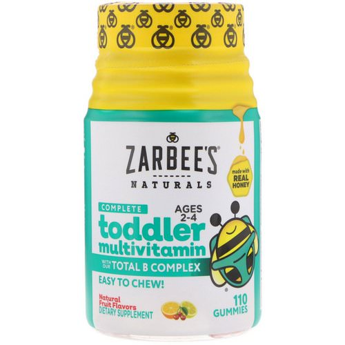 Zarbee's, Complete Toddler Multivitamin, Natural Fruit Flavors, 110 Gummies Review