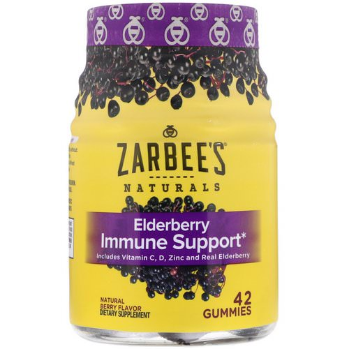 Zarbee's, Elderberry Immune Support, Natural Berry, 42 Gummies Review