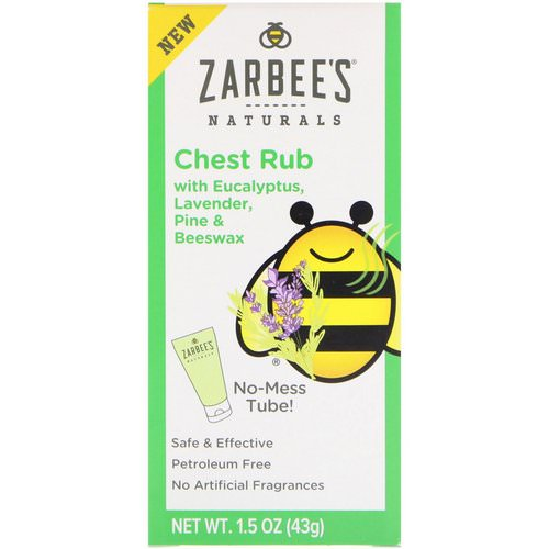 Zarbee's, Naturals, Chest Rub with Eucalyptus, Lavender, Pine & Beeswax, 1.5 oz (43 g) Review